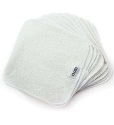 Nixi Reusable Bamboo Cloth Wipes, 12-pack | Reuseit | Reuseit