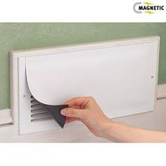 Magnetic Vent Covers - Place over vents in unused rooms to send heat where it's needed. This is more effective than closing vents. Reusable magnetic vinyl covers wont scratch and can be easily trimmed to fit. Casa Stark, Just In Case, Just For You, Vent Covers, Tips & Tricks, Vinyl Cover, Home And Deco, Do It Yourself Home, Home Hacks
