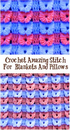 amazing stitch for blankets and pillows