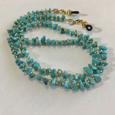 and gold Turquoise and Gold Beaded Eyeglass Chain-Sunglass Chain-Eyeglass Holder-Chain for Glasses-Necklace Check out Turquoise and Gold Beaded Eyeglass Chain-Sunglass Chain-Eyeglass Holder-Chain for Glasses-Necklace on heavenlychains Waist Jewelry, Beaded Jewelry, Beaded Necklace, Beaded Bracelets, Fashion Eye Glasses, Eyeglass Holder, Bohemian Bracelets, Necklace Designs, Band