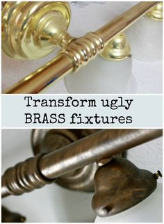 How To Paint Out Dated Brass Light Fixtures To Update Any Room. Itu0027s An  Amazing