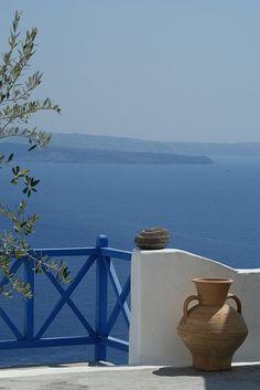 Terrace, Oia, Santorini