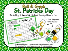 FREE Roll & Graph Activity for St. Patrick's Day: K-2nd (EFL)