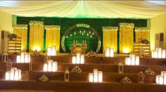 Marriage Hall Decoration, Engagement Stage Decoration, Wedding Stage Decorations, Garland Wedding, Wedding Stage Design, Church Stage Design, Wedding Designs, Mehndi Decor, Receptions