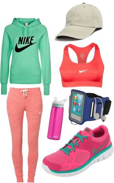 """The Active Girl"" by crcockrell on Polyvore OOH so excited to be able to wear this in 5 months! YYAY personal training!"
