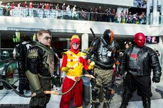 Green Arrow, Firestorm, Deathstroke the Terminator, and Red Hood #NYCC2015