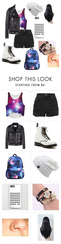 """""""HaHaHa......NO"""" by real-wonderland on Polyvore featuring Topshop, Acne Studios and Dr. Martens"""