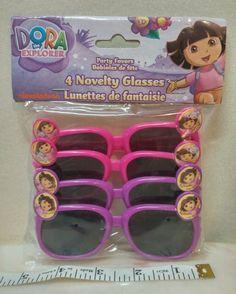 f1bf0e47783 Dora the Explorer 4 novelty sunglasses kids ages 3+ plastic pink purple New   nickelodeon