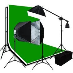 Studio Photography Studio Video Lighting 3 Muslin Backdrops 10 x 12 Chromakey Green Black White Screen Background Support System H9004SB2-1012BWG by ePhotoInc. $239.99. Now you can get the professional images you want with all video or digital photo cameras. This is easy to work with and will give you professional images with every shot. Produces even soft light that renders natural skin tones without any filtration.They could be used for video light or photography li...