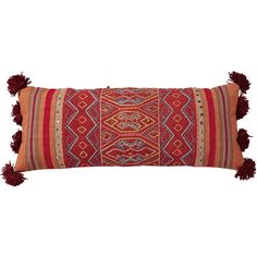 Colourful, Peruvian-inspired cushion covers embellished with embroidery and brass effect sequins, with woollen pom poms at each end. With its bold pattern and sense of fun, our Chinchero Bolster Cushion Cover is ideal for a boho scheme. Use our bolster cushion covers along the back of a sofa or head of a bed to create an interesting arrangement. Hand-woven from 85% cotton/15% polyester and plain backed in 100% cotton. Concealed zip fastening. Pad sold separately.