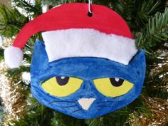 Paula's Preschool and Kindergarten: Follow up to Pete the Cat Saves Christmas, Pete ornament.