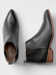Leather chelsea booties Product Image