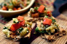NYT Cooking: Grilled Eggplant Salad