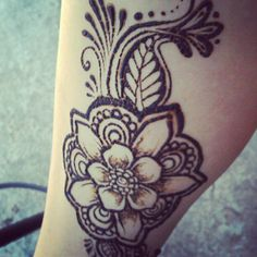 henna poppy tattoo - Google Search