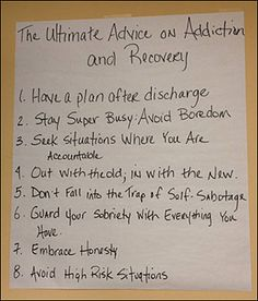 Ultimate Advice on Addiction and Recovery from patients who are actively in rehab.