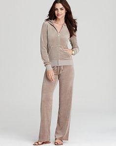 Juicy Couture Long Sleeve Original Terry Hoodie & Original Leg Drawstring Terry Pants - Loungewear - Apparel - Women's - Bloomingdale's