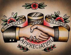 Suavecito pomata cliente apprezzamento Tattoo Print