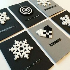 Christmas cards hama beads by reginehoen: