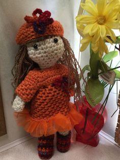 Crochet Doll Bright Orange Colors Ready to ship by AngelBlossomCrochet on Etsy https://www.etsy.com/listing/246745094/crochet-doll-bright-orange-colors-ready