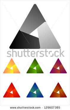Convergence logos triangle | Design triangle logo element. Infinite cross ribbon vector design icon ...