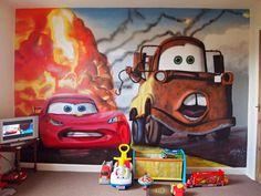 Disney pixar Cars wall mural   Damian s room   Pinterest   Bedroom   disney themed kids rooms   Cars   Disney Bedroom Graffiti   Graffiti Zone. Cars Bedroom Ideas. Home Design Ideas