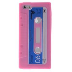 Cassette Style Silicon Back Case Cover For iPhone 5 - Pink US 2.69 Note 3  Case a30173af8cd0d