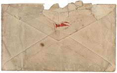 Letter from Leonard Taylor, envelope, back, with the (partial) White Star Line mark. This letter was mailed from Queenstown, at Titanic's last port.