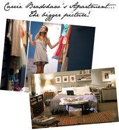 Carrie Bradshaw's Apartment - kolorystyka - niebieskie ściany