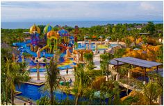 New Kuta Green Park is an appropriate place for family recreation implementing a water park attraction and outbound activities! This park is located at Pecatu, Kuta Selatan, Bali    http://travelling-bali.com