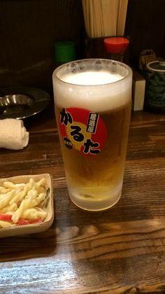 生ビールはラガーでした