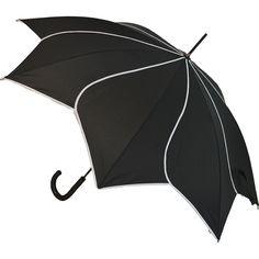 Petal Paraply Black Swirl - Paraply & More från Umbrella Heaven Black Umbrella, Vintage Umbrella, Under My Umbrella, Fancy Umbrella, Ladies Umbrella, Golf Umbrella, Umbrella Wedding, Under The Rain, Brollies