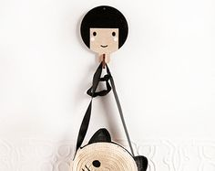 Super hero boy with black hair wooden clothes by RedHandGang