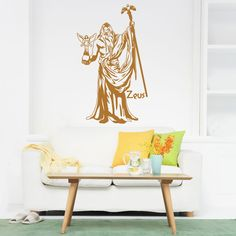 Style and Apply Zeus Wall Art Decal