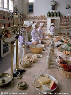 The Kitchen at Longleat, Longleat House in Wiltshire, England was built in 1580 and is the seat of Alexander Thynn, 3rd Marquess of Bath