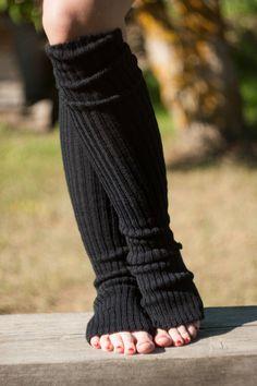 Items similar to Yoga socks spats / dance socks / leg warmers / boot socks - Black very long knee high knit YOga clothing yoga gift Accessories Women legwear on Etsy Crochet Leg Warmers, Crochet Socks, Crochet Clothes, Diy Crochet, Dance Socks, Yoga Socks, Women Legs, Dance Outfits, Women Accessories