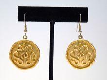 Egyptian Revival Disc Earrings - $18
