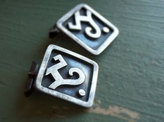 Vintage Jose Luis Flores mexican sterling silver cuff links // Miguel sterling JLF - TAXCO 838
