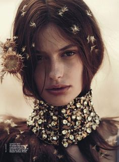 Alexander McQueen necklace (Cassi Van Den Dungen in Vogue Australia,April 2013 by Will Davidson)