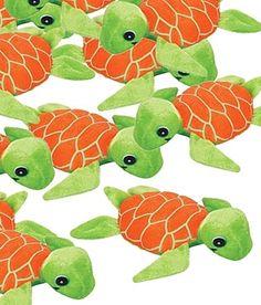 Whimsical Plush Baby Sea Turtles