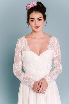 Sally Eagle's Lindee Rose wedding dress from her bridal collection