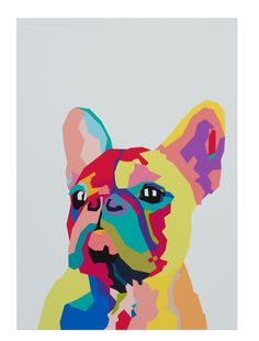 Shop Rascal the Frenchie Unframed Print at Matt Blatt. Matt Blatt offers a wide range of stylish Designer & Replica furniture for any Home or Office. French Bulldog Art, French Bulldog Puppies, Poster Photo, Art Watercolor, Halloween Painting, Arte Pop, Dog Paintings, Print Pictures, Pet Portraits