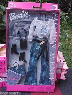 Mattel Barbie Fashion Avenue Fashion Glitter Jeans Peasant Top | eBay