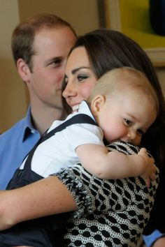 Prince George and Kate Middleton, at New Zealand gathering of babies April 2014