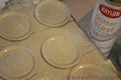 DIY Olympic Gold Medals Glitter Blast Spray Paint, Olympic Crafts, Canning Lids, Olympic Gold Medals, Pinewood Derby, Gold Diy, Olympics, Box Tops, Physical Education