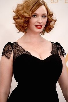 Christina Hendricks and Geoffrey Arend | Who Wore What To The 2013 Emmy Awards?
