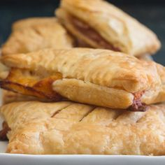 Italian Savory Stuffed Puff Pastry Pockets - Saccottini - An Italian in my Kitchen Puff Pastry Dough, Puff Pastry Recipes, Pastry Dishes, Italian Pasta Recipes, Italian Cookies, Food To Make, Main Dishes, Brunch, Food And Drink