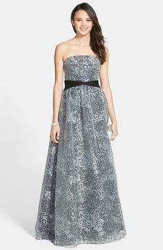 Adrianna Papell Jacquard Organza Gown available at #Nordstrom