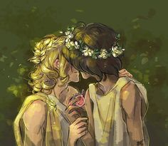 Achilles and Patroclus Book: Song of Achilles by Madeline Miller Greek And Roman Mythology, Greek Gods, Achilles And Patroclus, Rome Antique, Roman Gods, Captive Prince, Lore Olympus, Hades And Persephone, Fanart