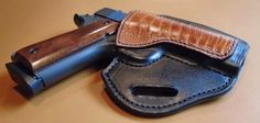 OWB 1911  4.25 Leather Pancake Holster with by KeyStoneGunLeather1