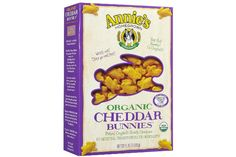 I have to confess, crackers like these Annie's Homegrown Organic Cheddar Bunnies are tempting. They're the perfect size for a toddler's grasp. They pack easily in ziplock baggies and tuck nicely away into a purse or handbag. And they're certified organic! They even profess to be GMO-free and have 0g of trans fats. Even the cheese used is organic and growth-hormone free.